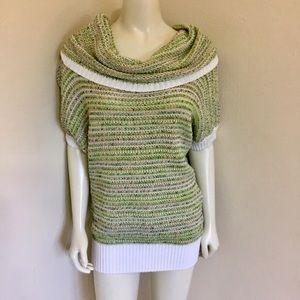 Escada Green Knit Short Sleeve Tunic Sweater 38 8